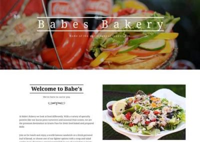 portfolio: Babe's Bakery Website Screenshot