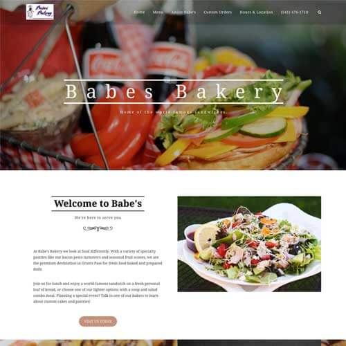 Babe's Bakery was a new business that needed a site. They came to us and we created a custom design to match their needs. Platform: WordPress Goals: Consultation Website Creation