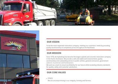 portfolio: AA Asphalting, LLC website