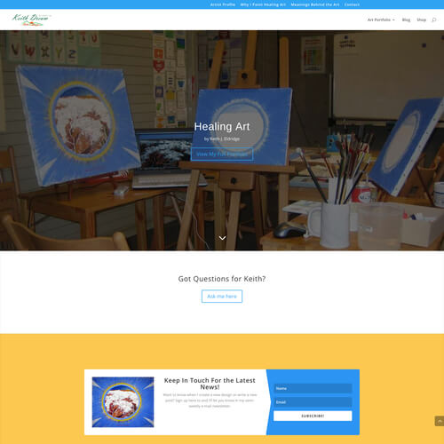 Keith Dream Art - Platform: WordPress Goals: Consultation Website Creation