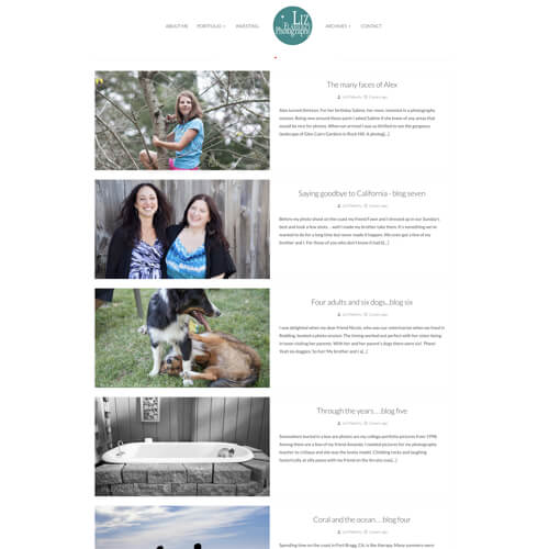Liz Creates - Platform: WordPress Goals: Consultation Website Creation