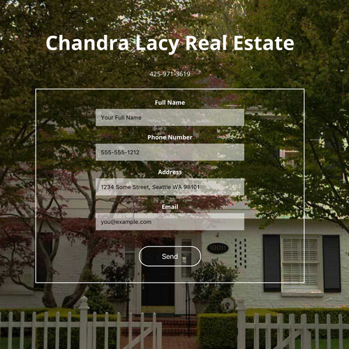 Chandra Lacy Real Estate: Platform: WordPress Goals: Consultation Website Creation Quick Turnaround