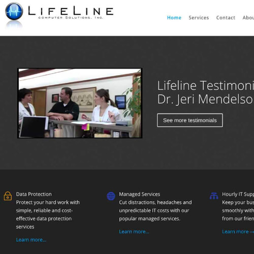 Lifeline Computer Solutions - Website Platform: WordPress Goals: Consultation Website Update