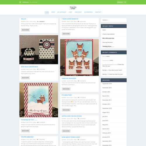 Renee's Inks and Paper - Platform: WordPress Goals: Consultation Website re-design Move from Blogger