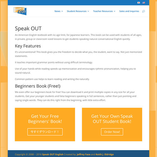 Speak Out English - Platform: WordPress Goals: Consultation Website Creation