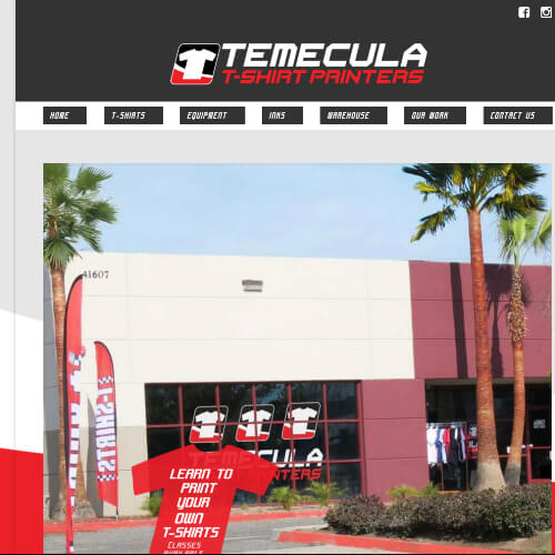 Temecula Tshirt Printers - Platform: WordPress Goals: Consultation Website re-design Move from Blogger